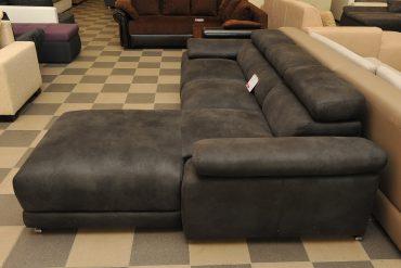 fekete alkantara kanapé